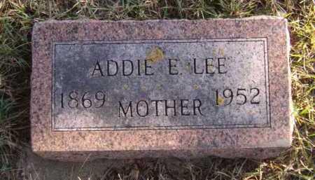 LEE, ADDIE E - Moody County, South Dakota   ADDIE E LEE - South Dakota Gravestone Photos