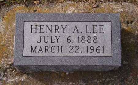 LEE, HENRY A - Moody County, South Dakota | HENRY A LEE - South Dakota Gravestone Photos