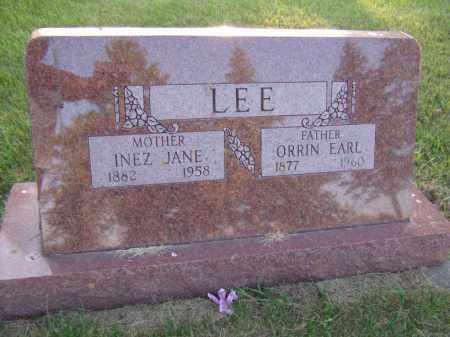LEE, INEZ JANE - Moody County, South Dakota   INEZ JANE LEE - South Dakota Gravestone Photos