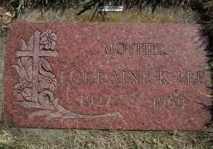 LEE, LORRAINE - Moody County, South Dakota   LORRAINE LEE - South Dakota Gravestone Photos