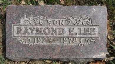 LEE, RAYMOND E - Moody County, South Dakota | RAYMOND E LEE - South Dakota Gravestone Photos