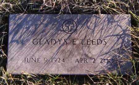 LEEDS, GLADYS E - Moody County, South Dakota | GLADYS E LEEDS - South Dakota Gravestone Photos