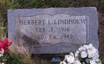 LINDHOLM, NERBERT L - Moody County, South Dakota   NERBERT L LINDHOLM - South Dakota Gravestone Photos