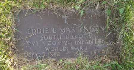MARTINSON, EDDIE L - Moody County, South Dakota | EDDIE L MARTINSON - South Dakota Gravestone Photos