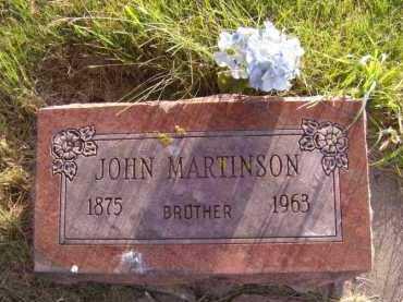 MARTINSON, JOHN - Moody County, South Dakota   JOHN MARTINSON - South Dakota Gravestone Photos