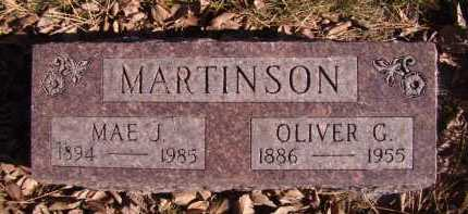 MARTINSON, MAE J. - Moody County, South Dakota | MAE J. MARTINSON - South Dakota Gravestone Photos