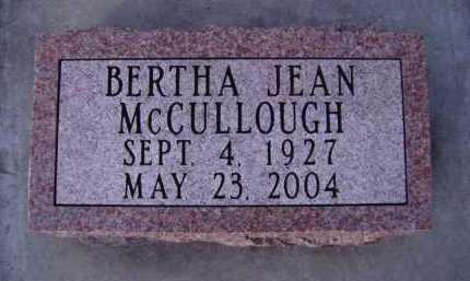 MCCULLOUGH, BERTHA JEAN - Moody County, South Dakota | BERTHA JEAN MCCULLOUGH - South Dakota Gravestone Photos