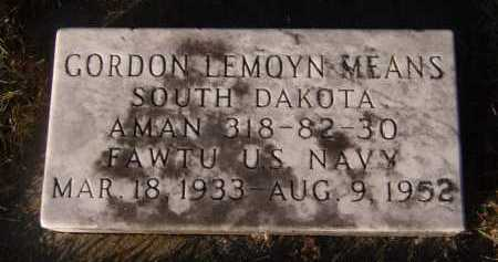 MEANS, GORDON LEMOYN - Moody County, South Dakota | GORDON LEMOYN MEANS - South Dakota Gravestone Photos