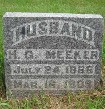 MEEKER, HIRAM G - Moody County, South Dakota | HIRAM G MEEKER - South Dakota Gravestone Photos