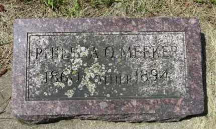 MEEKER, PHILENA O. - Moody County, South Dakota | PHILENA O. MEEKER - South Dakota Gravestone Photos