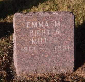 RICHTER MILLER, EMMA M - Moody County, South Dakota | EMMA M RICHTER MILLER - South Dakota Gravestone Photos