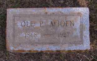 MJOEN, OLE P - Moody County, South Dakota   OLE P MJOEN - South Dakota Gravestone Photos