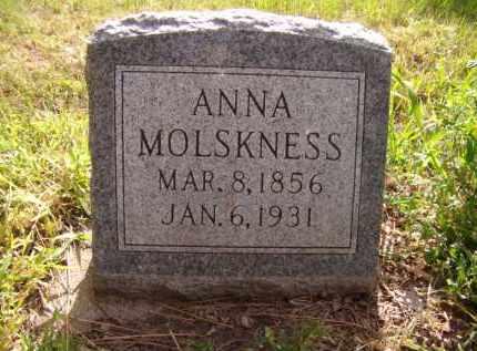MOLSKNESS, ANNA - Moody County, South Dakota   ANNA MOLSKNESS - South Dakota Gravestone Photos