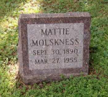 MOLSKNESS, MATTIE - Moody County, South Dakota   MATTIE MOLSKNESS - South Dakota Gravestone Photos