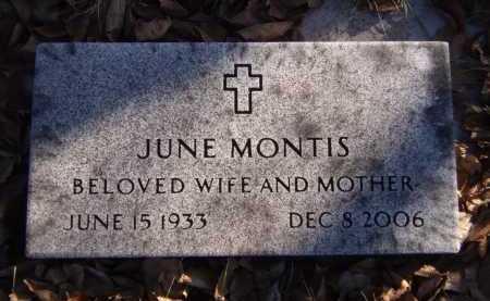 MONTIS, JUNE - Moody County, South Dakota   JUNE MONTIS - South Dakota Gravestone Photos