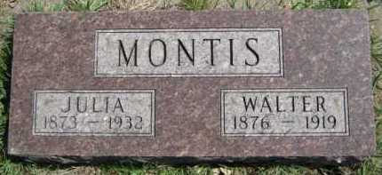 MONTIS, JULIA - Moody County, South Dakota | JULIA MONTIS - South Dakota Gravestone Photos