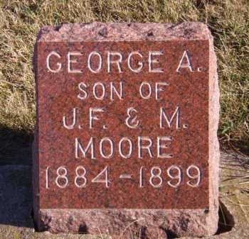 MOORE, GEORGE A. - Moody County, South Dakota | GEORGE A. MOORE - South Dakota Gravestone Photos
