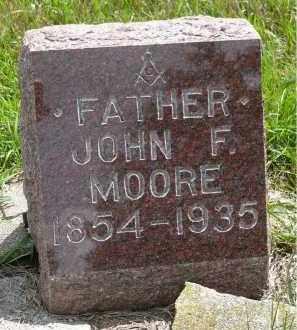 MOORE, JOHN F. - Moody County, South Dakota | JOHN F. MOORE - South Dakota Gravestone Photos
