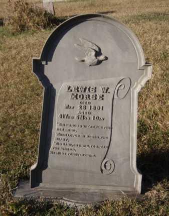 MORSE, LEWIS W - Moody County, South Dakota | LEWIS W MORSE - South Dakota Gravestone Photos