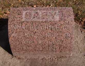 MUELLER, INFANT DAUGHTER - Moody County, South Dakota | INFANT DAUGHTER MUELLER - South Dakota Gravestone Photos