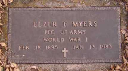 MYERS, ELZER F (MILITARY) - Moody County, South Dakota | ELZER F (MILITARY) MYERS - South Dakota Gravestone Photos