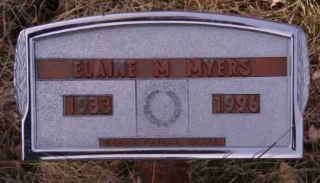 MYERS, ELAINE M - Moody County, South Dakota | ELAINE M MYERS - South Dakota Gravestone Photos