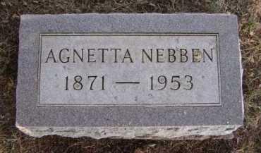 NEBBEN, AGNETTA - Moody County, South Dakota | AGNETTA NEBBEN - South Dakota Gravestone Photos