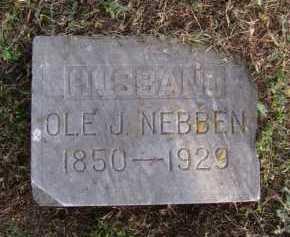 NEBBEN, OLE J - Moody County, South Dakota   OLE J NEBBEN - South Dakota Gravestone Photos