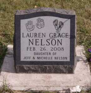 NELSON, LAUREN GRACE - Moody County, South Dakota   LAUREN GRACE NELSON - South Dakota Gravestone Photos