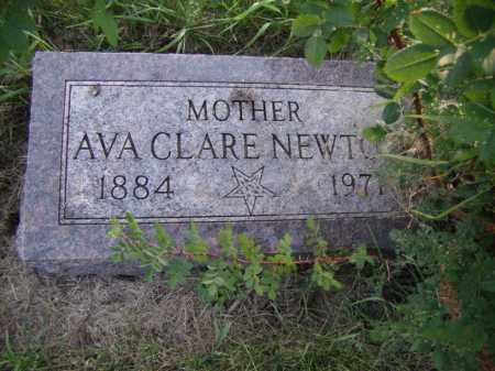 NEWTON, AVA CLARE - Moody County, South Dakota   AVA CLARE NEWTON - South Dakota Gravestone Photos