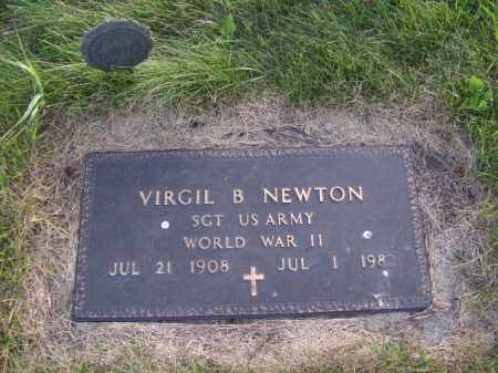 NEWTON, VIRGIL B - Moody County, South Dakota   VIRGIL B NEWTON - South Dakota Gravestone Photos