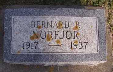 NORFJOR, BERNARD P - Moody County, South Dakota | BERNARD P NORFJOR - South Dakota Gravestone Photos