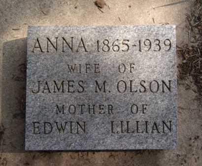 OLSON, ANNA - Moody County, South Dakota | ANNA OLSON - South Dakota Gravestone Photos