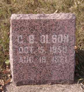 OLSON, G.B. - Moody County, South Dakota   G.B. OLSON - South Dakota Gravestone Photos