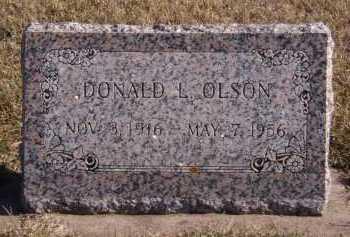 OLSON, DONOALD L - Moody County, South Dakota   DONOALD L OLSON - South Dakota Gravestone Photos