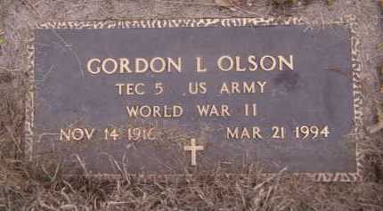 OLSON, GORDON L - Moody County, South Dakota | GORDON L OLSON - South Dakota Gravestone Photos
