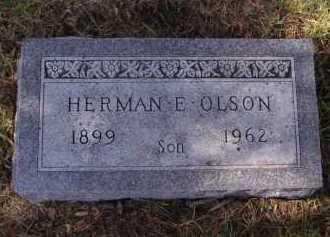 OLSON, HERMAN E - Moody County, South Dakota | HERMAN E OLSON - South Dakota Gravestone Photos