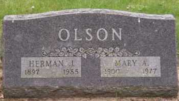 OLSON, MARY A. - Moody County, South Dakota | MARY A. OLSON - South Dakota Gravestone Photos