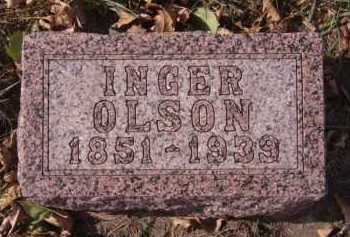 OLSON, INGER - Moody County, South Dakota | INGER OLSON - South Dakota Gravestone Photos