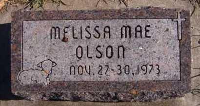 OLSON, MELISSA MAE - Moody County, South Dakota | MELISSA MAE OLSON - South Dakota Gravestone Photos