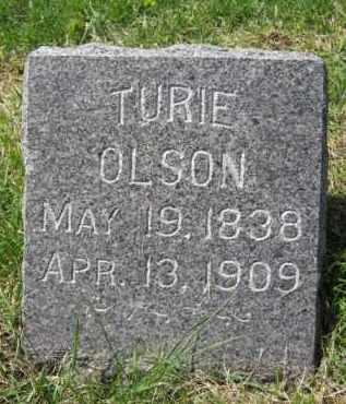 OLSON, TURIE - Moody County, South Dakota   TURIE OLSON - South Dakota Gravestone Photos