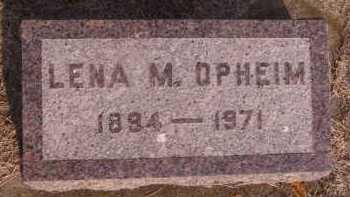 OPHEIM, LENA M - Moody County, South Dakota   LENA M OPHEIM - South Dakota Gravestone Photos