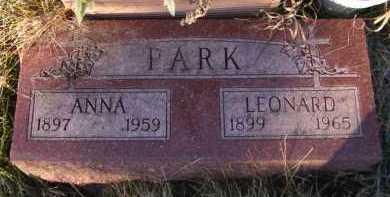 PARK, LEONARD - Moody County, South Dakota | LEONARD PARK - South Dakota Gravestone Photos