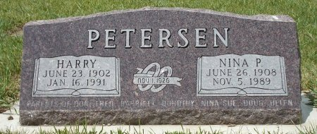 PETERSEN, NINA P. - Moody County, South Dakota | NINA P. PETERSEN - South Dakota Gravestone Photos