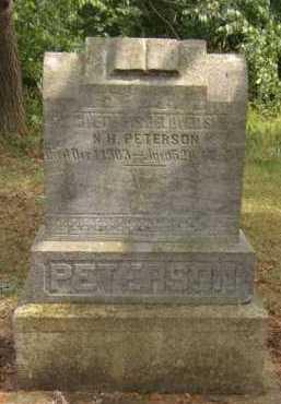PETERSON, N.H. - Moody County, South Dakota   N.H. PETERSON - South Dakota Gravestone Photos