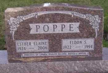 POPPE, ESTHER ELAINE - Moody County, South Dakota | ESTHER ELAINE POPPE - South Dakota Gravestone Photos