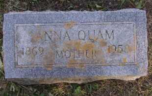 QUAM, ANNA - Moody County, South Dakota   ANNA QUAM - South Dakota Gravestone Photos