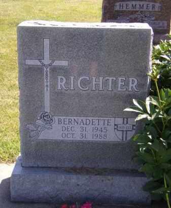 RICHTER, BERNADETTE - Moody County, South Dakota   BERNADETTE RICHTER - South Dakota Gravestone Photos