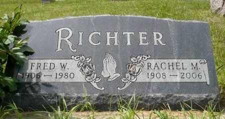 RICHTER, FRED W. - Moody County, South Dakota   FRED W. RICHTER - South Dakota Gravestone Photos