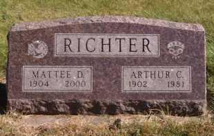 RICHTER, ARTHUR C - Moody County, South Dakota | ARTHUR C RICHTER - South Dakota Gravestone Photos